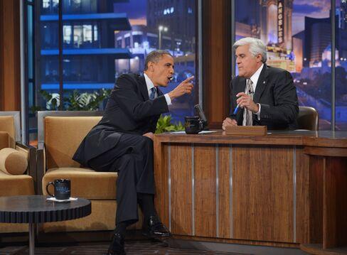 US President Barack Obama and Jay Leno