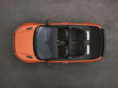 The 2016 Range Rover Evoque Convertible has a 240-horsepower, four-cylinder engine.