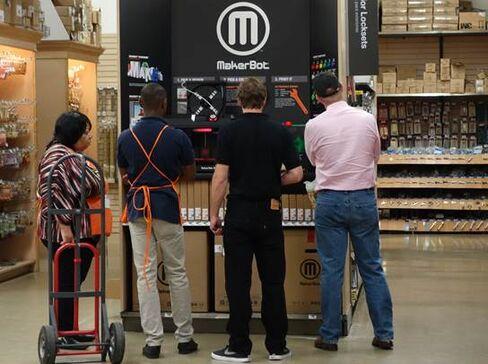 A MakerBot 3-D Printer At A Home Depot Store