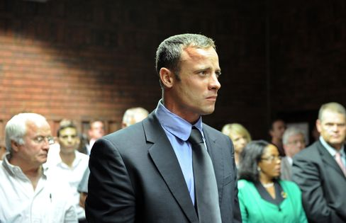 South African Gold-Medal Winning Paralympian Oscar Pistorius