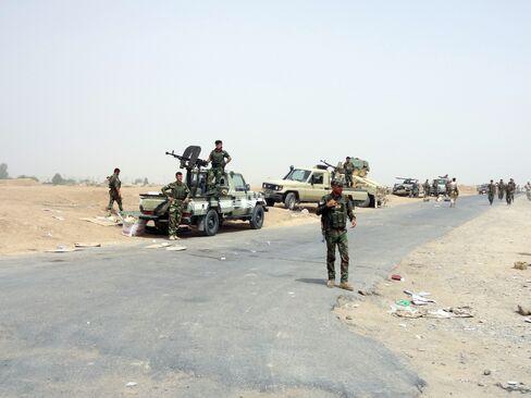 Peshmerga forces in Kirkuk