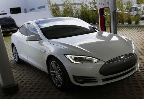 A Tesla Motors Inc. Model S Automobile