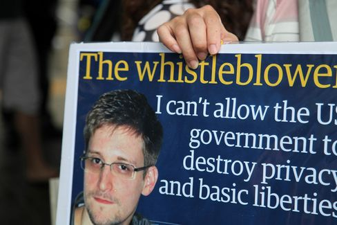 Former National Security Agency Contractor Edward Snowden