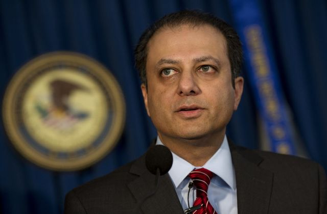 Preet Bharara, U.S. attorney, wonders if busting banks is such a bad idea. Photographer: Victor J. Blue/Bloomberg