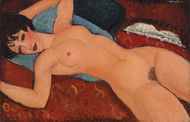 """Nu Couché"" by Amedeo Modigliani. Source: Christie's"