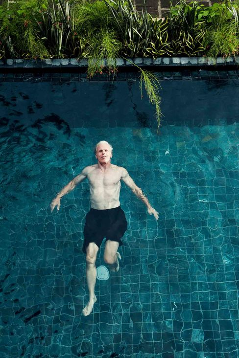 Tom Claugus in his private pool at Las Catalinas resort in Costa Rica, June, 2012. Photographer: Joao Canziani/ Bloomberg Markets via Bloomberg