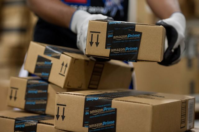 Keep those deliveries coming, Amazon. Photographer: David Paul Morris/Bloomberg