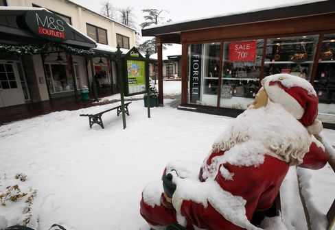 Snow Brings Chill to U.K. Stores, Holiday Spending Sputters