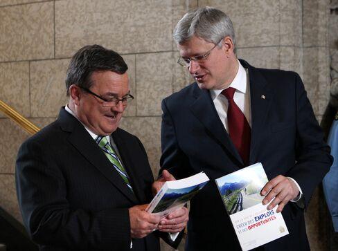Canada's Finance Minister Jim Flaherty & PM Stephen Harper