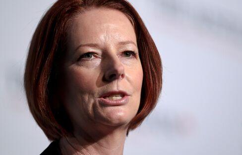 Australian Prime Minster Julia Gillard