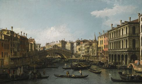 The Grand Canal and the Rialto Bridge, Venice