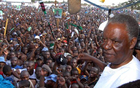 Zambia's Patriotic Front Leader Michael Sata