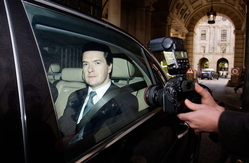 Osborne Says U.K. Debt Interest Costs to Fall by $8 Billion