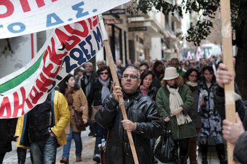 Greek Labor Unions Strike as Samaras Implements Austerity