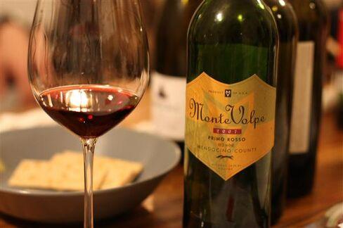 Tasting at James Dai's private wine club