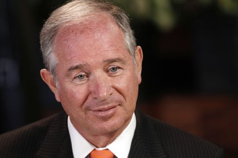 Blackstone Group Chief Executive Officer Stephen Schwarzman. Photographer: Jim R. Bounds/Bloomberg
