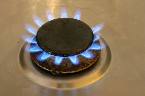 Natural Gas Burns On A Stove Top