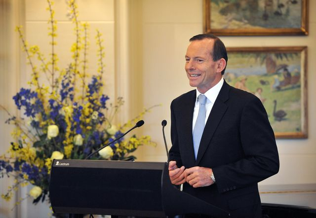 Tony Abbott, setting Australia back one climate-change policy at a time.