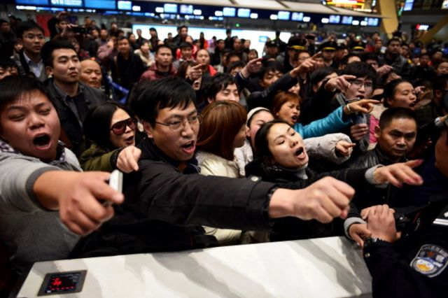 Enraged passengers are a familiar sight at Chinese airports.