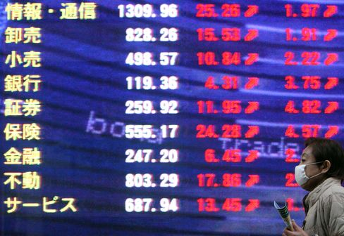 Asian Stocks Rise, Led by Japanese Exporters