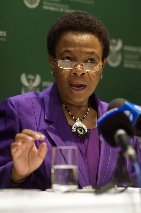 South African Mines Minister Susan Shabangu