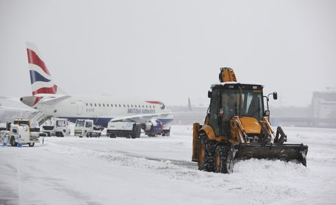 Snow, Cold Weather Disrupt Travel Across Europe