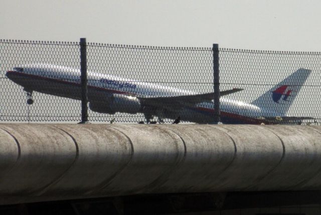 The doomed plane taking off from Schiphol Airport in the Netherlands.