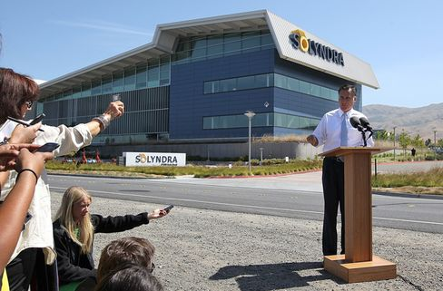 Romney Bashes Solyndra's Loan as Solar Company He Backed Fails