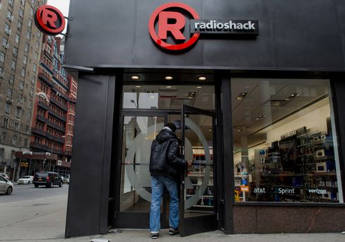 A Shopper Enters a RadioShack Corp. Store in New York