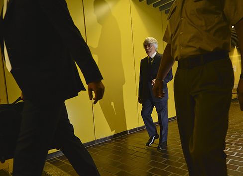 Formula One Chief Bernie Ecclestone Arrives at the Courthouse