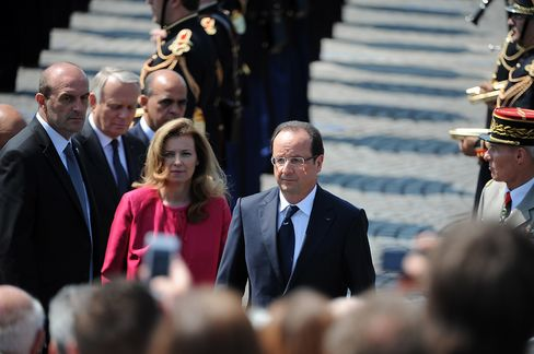 Francois Hollande and Valerie Trierweiler