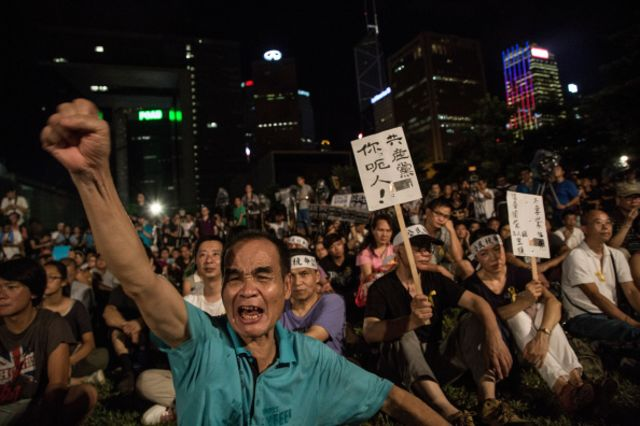 Not fans of China's message to Hong Kong.
