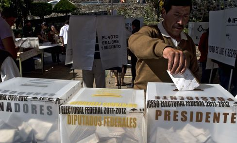 Mexicans Vote in Election Expected to Return PRI to Power