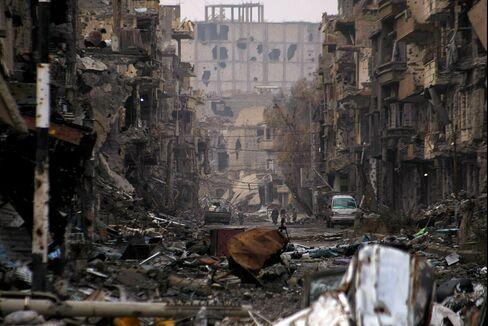 Destruction in Deir Ezzor