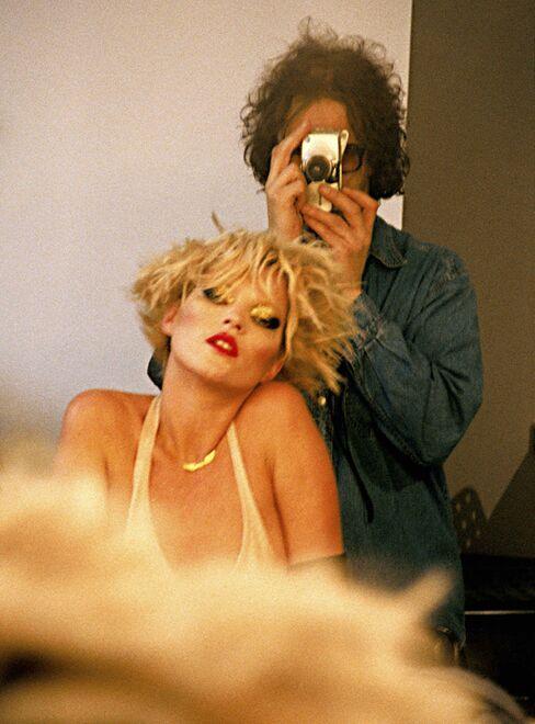 Mick Rock and Kate Moss