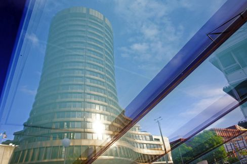 Bank for International Settlements Headquarters Stand in Basel