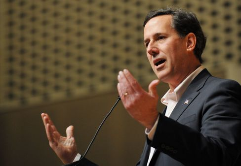 Republican Presidential Candidate Rick Santorum