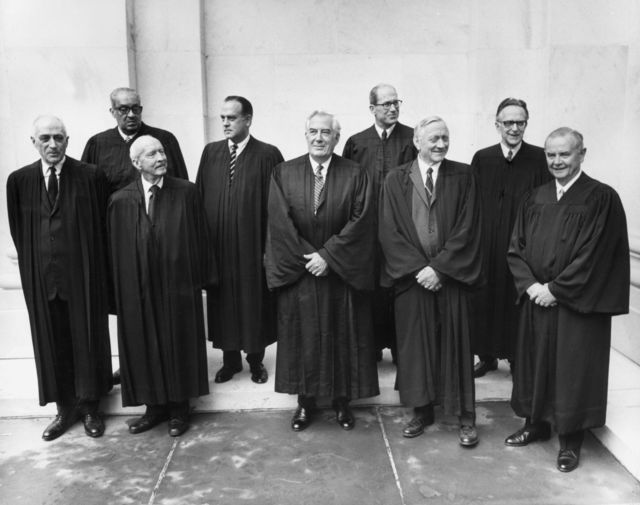 Hugo Black, second from left in front row, had conviction at least. Photographer: Gene Forte/Consolidated News Pictures via Getty Images