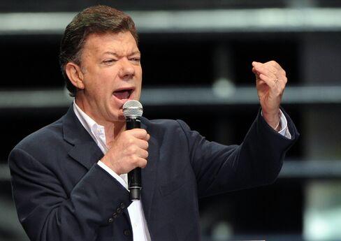 Colombian President elect Juan Manuel Santos