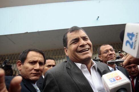 Ecuador's Re-elected President Rafael Correa