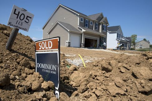 U.S. new-home sales rose in July to an annual pace of 372,000, up 25 percent from a year earlier and the fastest since April 2010, the Commerce Department reported last week. Photographer: Ty Wright/Bloomberg