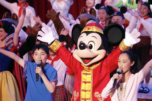 Entertainers Perform at Shanghai Disney's Groundbreaking