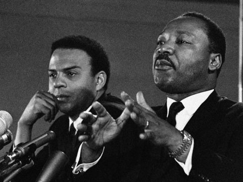 Civil Rights Leaders Dr. Martin Luther King Jr. & Andrew Young