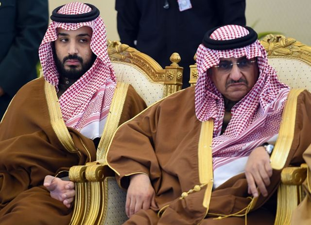 <p>Two nervous princes.</p> Photographer: Fayez Nureldine/AFP/Getty Images