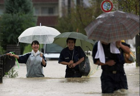 Typhoon Roke Nears Japan on Track for Leaking Nuclear Plant