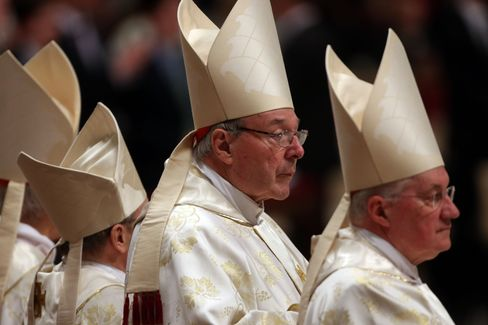 Australian Cardinal George Pell, center. Photographer: Franco Origlia/Getty Images