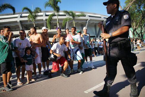 Police at Maracana Stadium