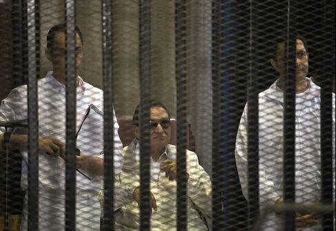 Ousted Egyptian President Hosni Mubarak & Sons