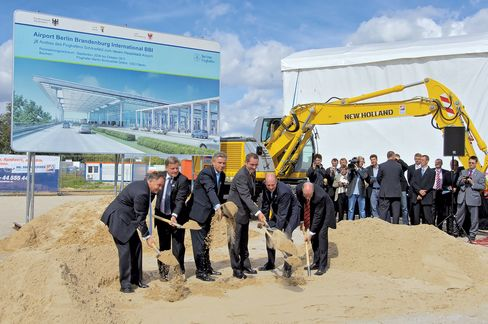 Breaking ground in September 2006.