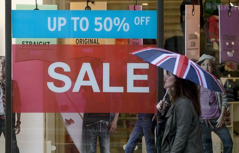 U.K. Retail Sales Unexpectedly Fall 1.3% on Drop in Food Demand